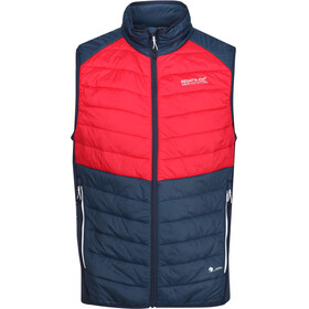 Regatta Halton IV Hybrid Bodywarmer Vest Heren, nightfall navy/true red/nightfall navy